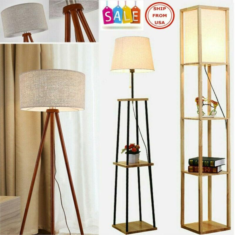 modern accent light wooden floor lamp