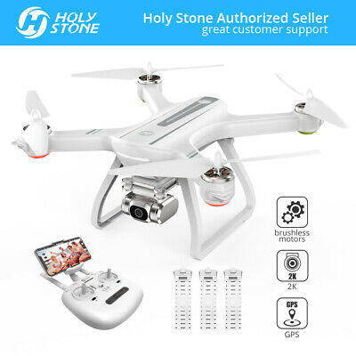 Saintly Stone HS700D GPS FPV Drone with 2K HD Camera Brushless RC Quad 3 Battery US