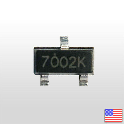 10x 2n7002k Sot-23 Smd N-channel Mosfet 60v 380ma 2n7002 - Fast Ship From Usa