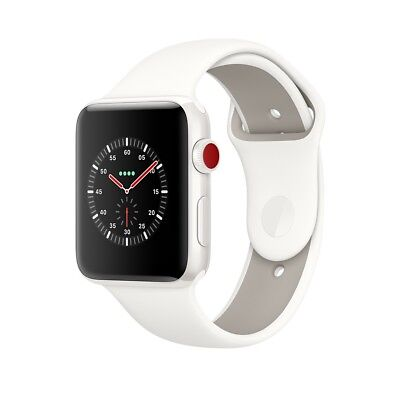 New Apple Awake to 3 Edition 38mm White Ceramic Case Soft White Sport Bind
