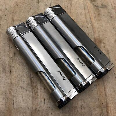 Blue Butane Torch Lighter (3 Pcs Jet Torch Blue Flame Butane Viewable Cigar Cigarette Lighter AM-5301 Gray )