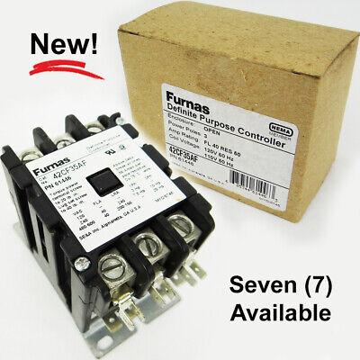 NEW Siemens Furnas 42CF35AF Definite Purpose Controller 3 Pole FL 40 Res 50 120V