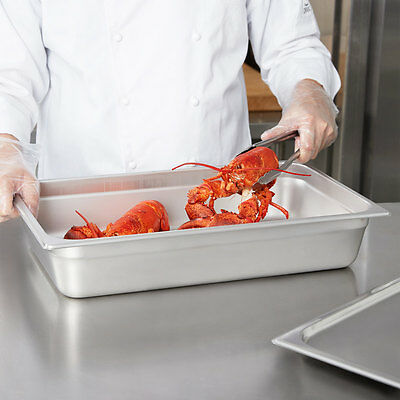 Full Size 4 Deep Stainless Steel Commercial Steam Prep Table Food Pan Nsf
