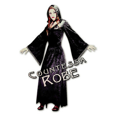 Fun World Countessa Robe Adult Halloween Costume Medium/Large Fits Sizes - Kostüm Countessa