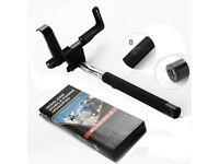Monopod Selfie Stick Extendable Built-In Wireless Bluetooth Shutter Button