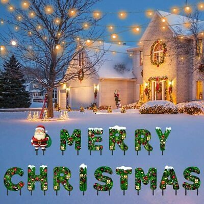 Merry Christmas Yard Sign Premium Colorful Weather Corrugated Plastic Merry Chr