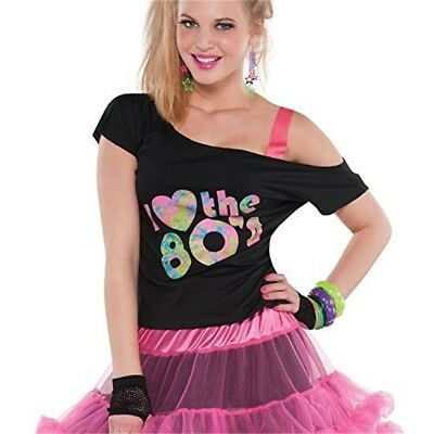 I Love The 80s T-shirt Adult Plus Size - Ladies Costume Accessories Adults - 80s Costume Plus Size