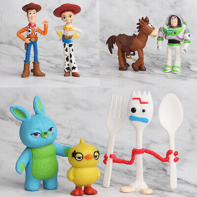 Toy Story Cakes (7 PCS Toy Story Buzz Lightyear Woody Bulleye Cake Topper Action Figure Gift)