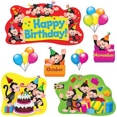 Monkey Mischief® Birthday Bulletin Board Set Trend Enterprises Inc. T-8341