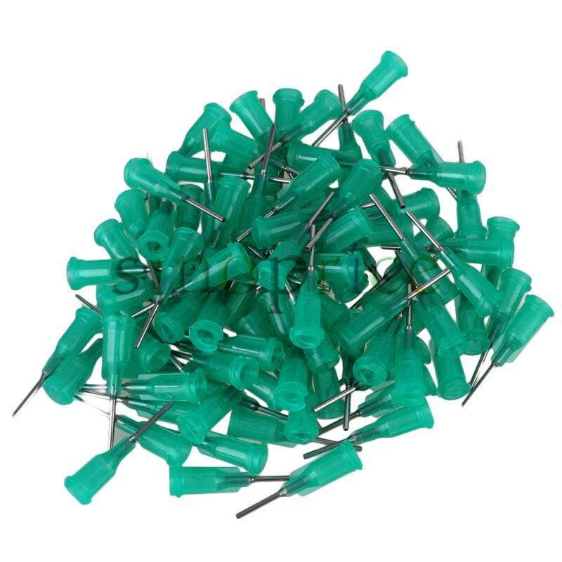 "100pcs 18 Gauge 1/2"" Green Blunt Dispensing Needles Syringe Needle Green"