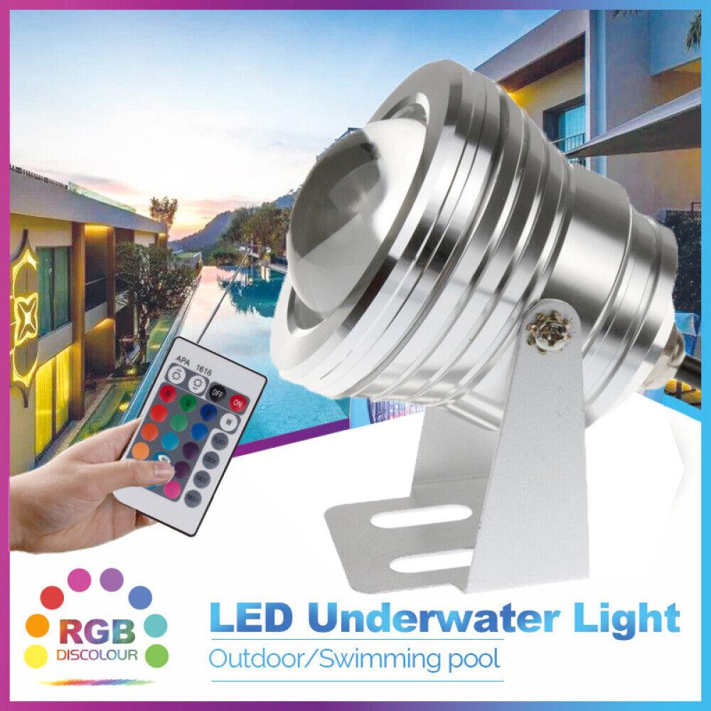 10W LED Unterwasser Strahler Scheinwerfer Poolbeleuchtung hell Flutlicht OE-DHL