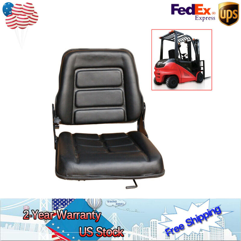 For Toyota Nissan Universal Replacement Folding Forklift Seat Bobcat,Tractor US