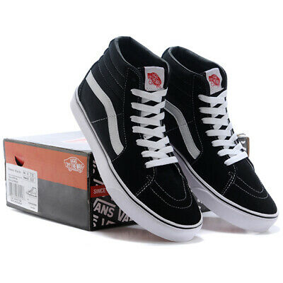 Vans Old Skool Men's High Top Shoes Black&White Casual Canvas Shoes Skate Shoes