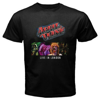 - New April Wine: I Like To Rock Live In London Men's Black T-Shirt Size S to 3XL