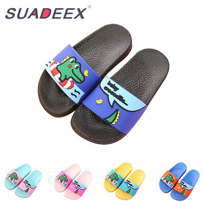 Girls Shoes (Kids Boys Girls Summer Casual Slide Slippers Soft Sandals Slip on Beach)