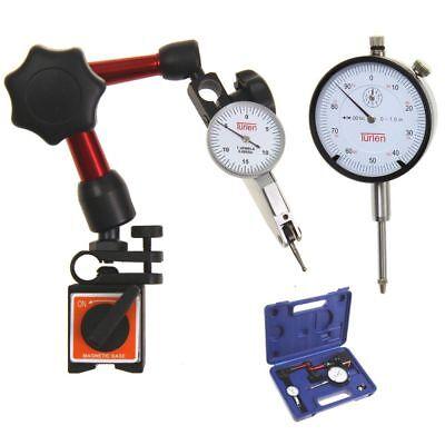 Trlen Dial Indicator 10.001 Test 0-15-0 0.030.0005 Mini Magnetic Base