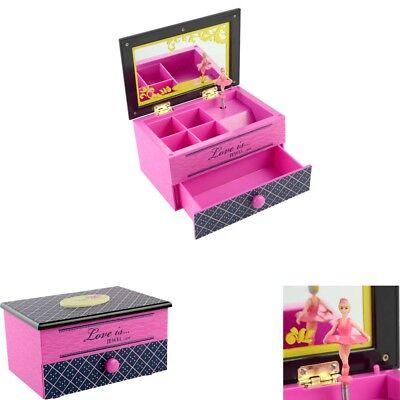 Girl Music Box Children Musical Jewelry Box Rectangle Ballerina Gift - Festival Box