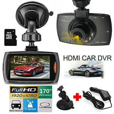 1080P Hd Car Dvr Dash Vehicle Camera Video Recorder Cam Night Vision G Sensor