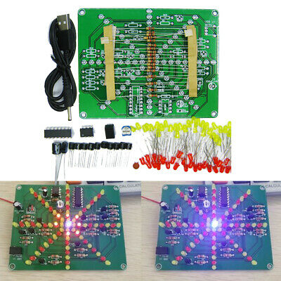 Electronic Led Falshing Lights Soldering Practice Pcb Board Diy Kits Dc 4.5v-6v