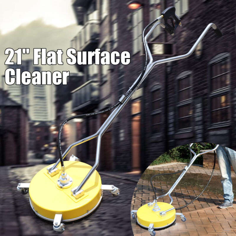 """21"""" Flat Surface Cleaner High Pressure Washer Water Concrete Clean Trolley 100℃"""