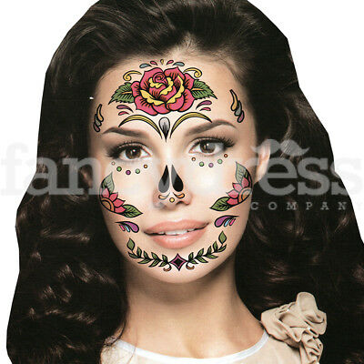 Fake Eye Face Tattoo Day of the Dead Sticker Festival Body Art Makeup Party  103 - Day Of The Dead Face Makeup