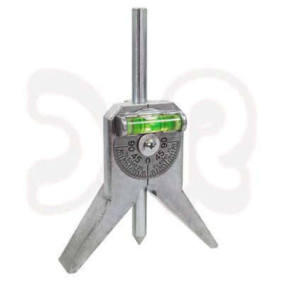 Zentrierkörner mit Winkelmesserlibelle für Rohre Ø 0,5 - 4 Zoll, Zentrierkopf