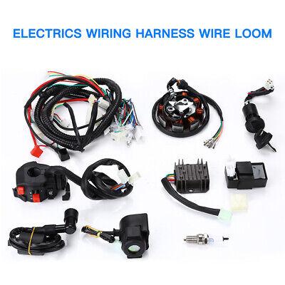 Electrics Wiring Harness Wire Loom ATV 125 150 200 250cc Stator Switch CDI Coil