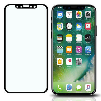 BEST Guard Black & White Full Coverage iPhone X 8 7 6Plus Glass Screen (Best Tempered Glass Screen Protector For Iphone X)