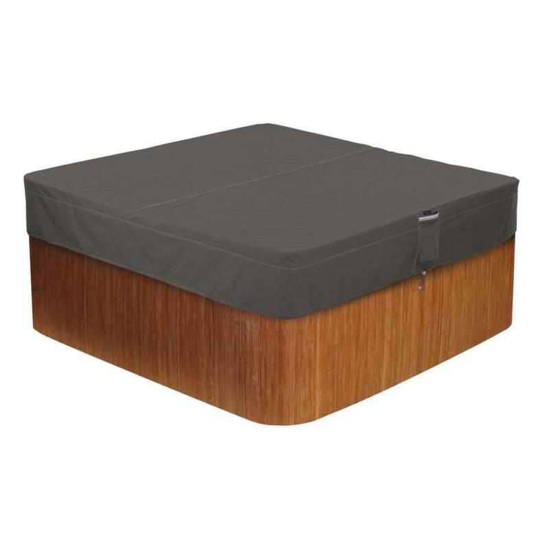 Classic Accessories Hot Tub Cover Cap Polyester Square Water-Resistant Medium