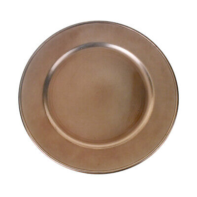 Plastic Round Charger Plate, Rose Gold, 13-Inch (Rose Gold Charger Plate)