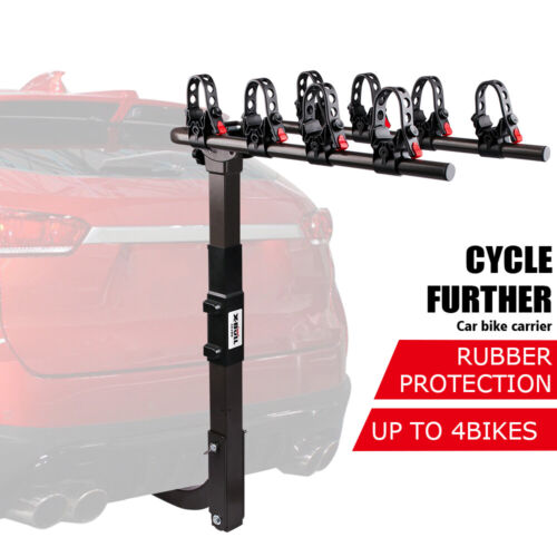 """4-Bike Carrier Rack Hitch Mount 2"""" Receiver Swing Down Bicycle Car Truck SUV"""
