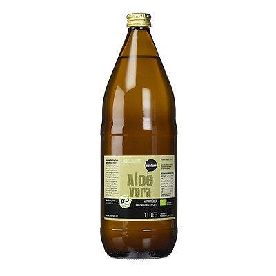 Wohltuer Aloe Vera Saft flüssig Frischpflanzensaft naturtrüb 1L Flasche