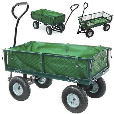 Heavy Duty Metal Garden Trolley Cart Wheelbarrow Garden Barrow Wheels 300kg