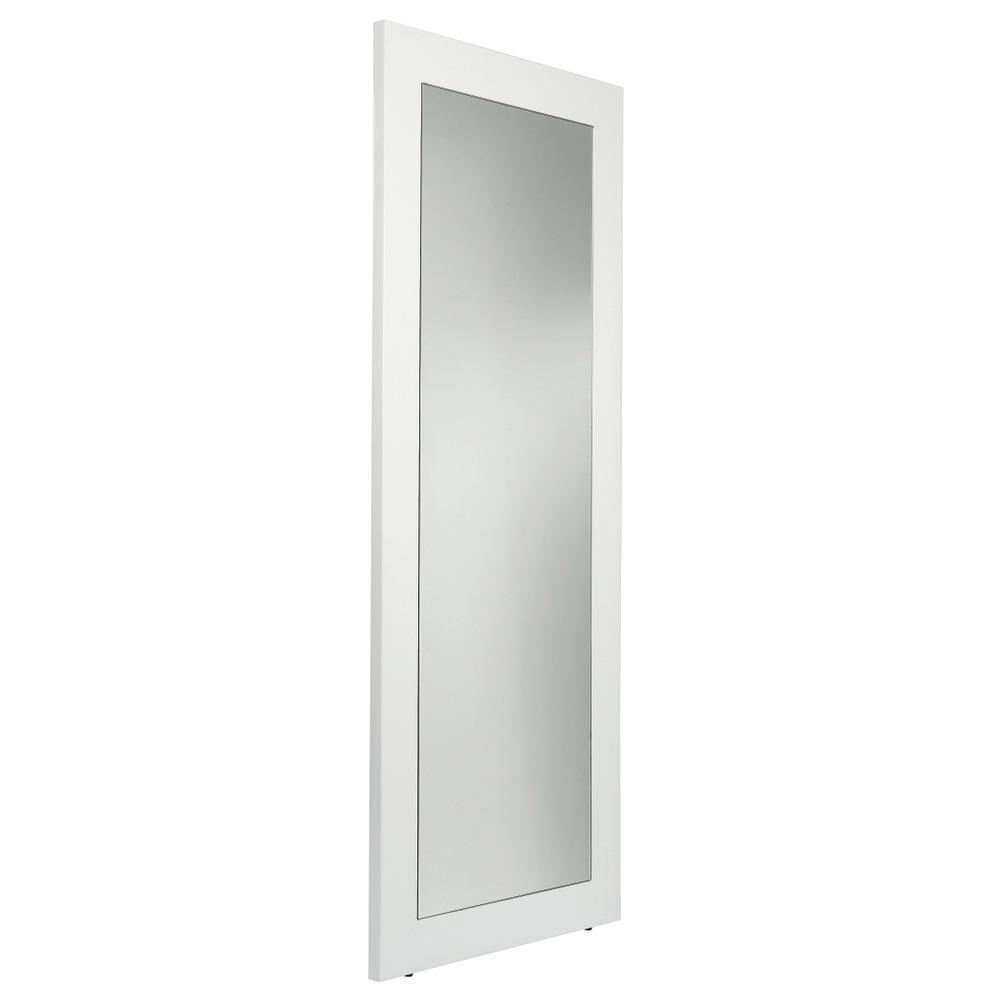 White wooden framed long length mirror in hove east for Long white wall mirror