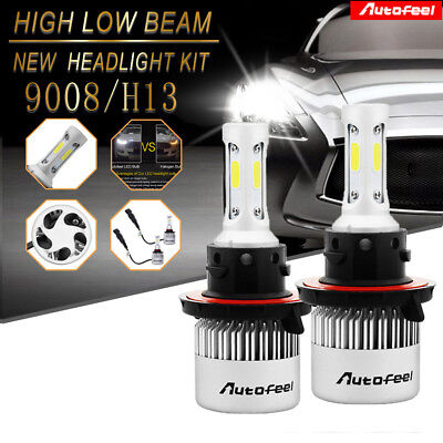 H13 9008 900W 135000LM CREE LED Headlight Kit Hi/Low Beam Bulb White 6000K Power