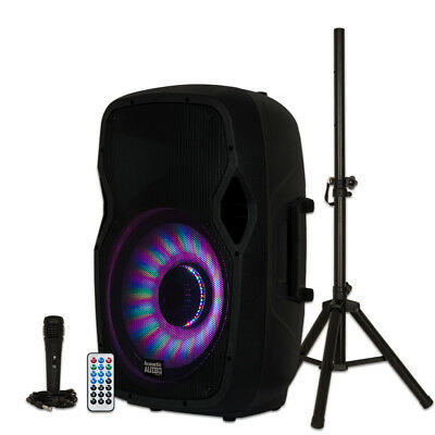 """Acoustic Audio by Goldwood AA15LBS Powered 15"""" Bluetooth LED"""