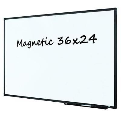 Lockways Magnetic Dry Erase Board - Whiteboard 36 X 24 White Board 3 X 2 Ultr
