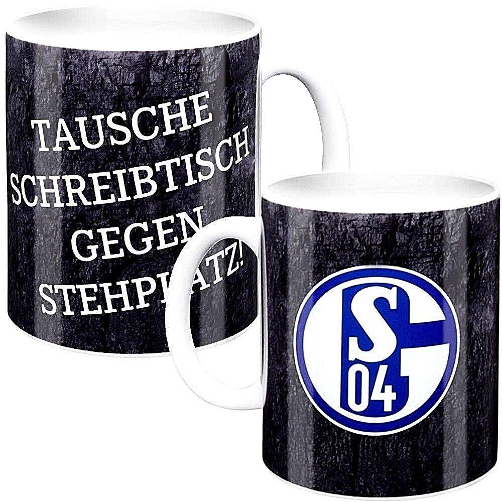 FC Schalke 04 Steingut Tasse Kaffeepott Kaffeetasse K/önigsblau S04 Mug