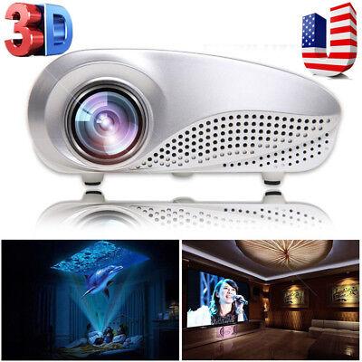 1080p Projector 5000 Lumens LED HD Home Multimedia Cinema AV TV VGA USB HDMI SD