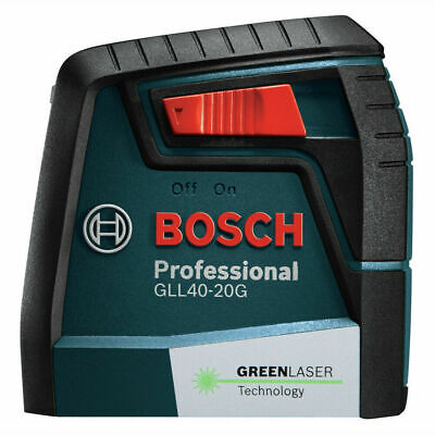 Bosch Gll 40-20 G 40 Ft. Self Leveling Cross Line Laser With Visimax Green Beam
