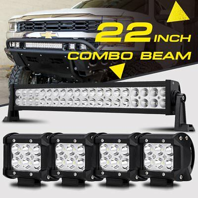 22INCH 280W CREE LED WORK LIGHT BAR 4 18W SPOTFLOOD COMBO 4X4WD JEEP FORD ATV