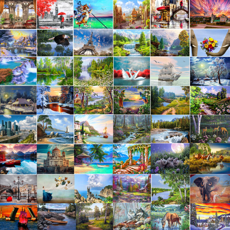 DIY Paints Nature Landscape By Number Kit Digital Oil Painting Home Wall Decor
