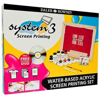 Daler Rowney System 3 Water based Acrylic Screen Printing Set - FREE P&P - NEW