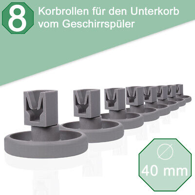 Korbrollen Unterkorb Rollen Räder Spülmaschine Geschirrspüler passt für Ikea