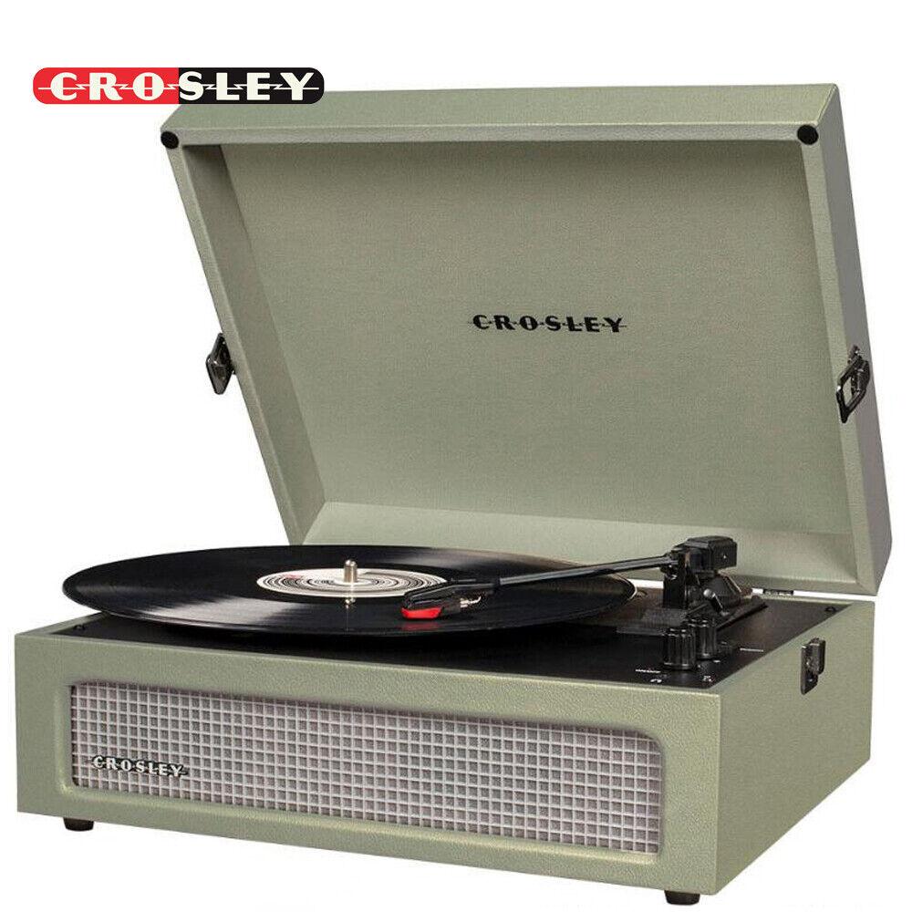 Crosley CR8017A-SA Voyager Vintage Portable Turntable with B