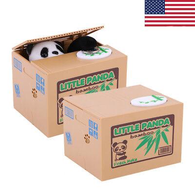 Adorable Panda Automated Piggy Bank Money Box Stealing Coin Saving Money Box New