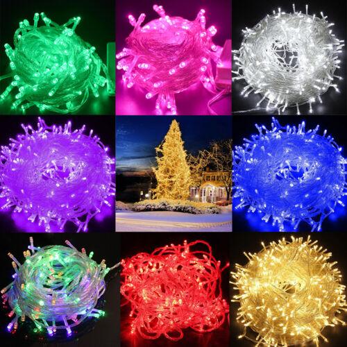 300 LED Multicoloured String Fairy Lights Xmas Wedding Party Garden Home Decor