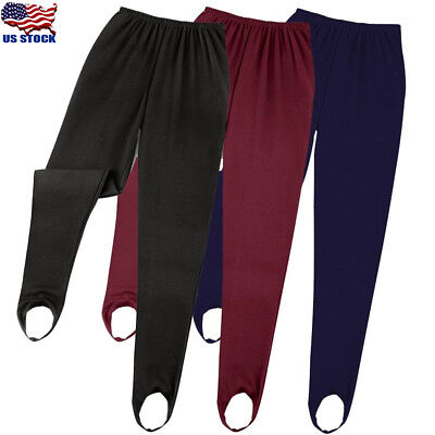 (USA Women's Pull On Ski Pants Elasticated Stirrup Women Trouser Plus Sizes S-2XL)