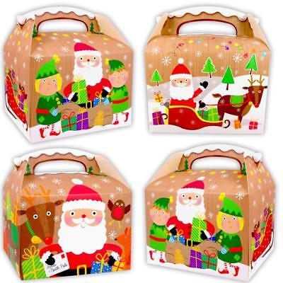 German Trendseller® - 6 x Geschenke Boxen | Weihnachten | Nikolaus | Mitgebsel