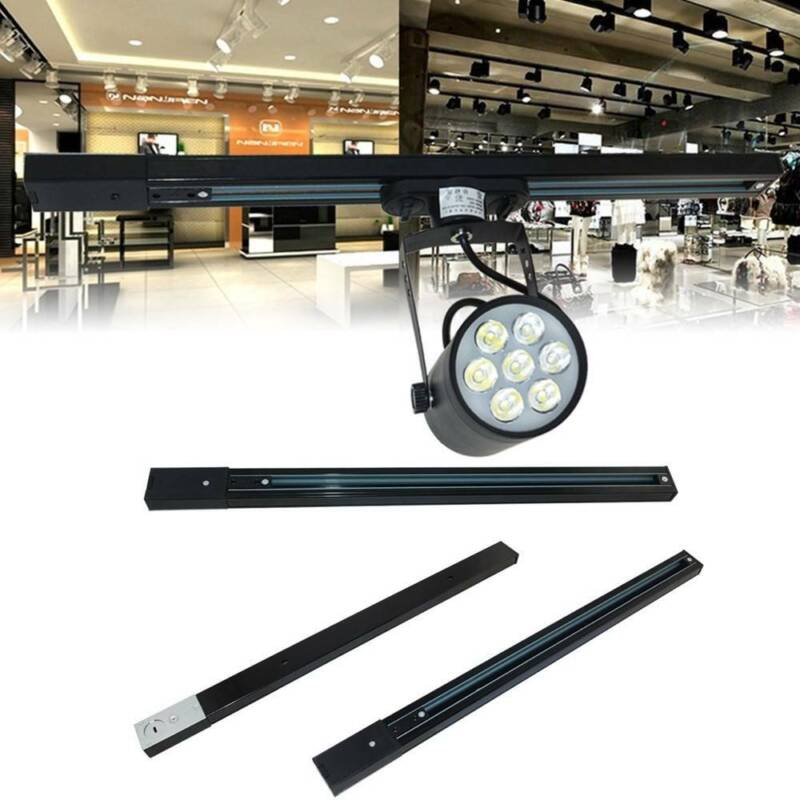 0.5m LED Track Rail 180° Straight Line Lighting Fixture for